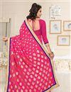 photo of Pink Color Party Wear Designer Georgette Saree