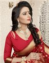 picture of Jacquard Work Banarasi Silk Traditional Saree In Red