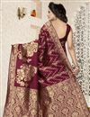 photo of Traditional Banarasi Silk Maroon Saree With Jacquard Work