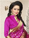 picture of Traditional Dark Pink Banarasi Silk Saree With Jacquard Work