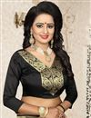 picture of Banarasi Silk Traditional Function Wear Black Saree With Jacquard Work