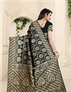 photo of Banarasi Silk Fabric Weaving Work On Black Color Occasion Wear Saree With Enchanting Blouse