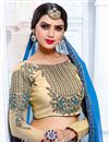 photo of Function Wear Fancy Sky Blue Color Georgette Designer Party Wear Saree With Fancy Blouse