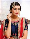 photo of Fancy Red Color Georgette Designer Festive Wear Embroidered Saree With Fancy Blouse
