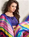 photo of Pink-Yellow Color Digital Print Party Wear Satin Georgette Saree