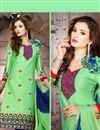 photo of Green Straight Cut Designer Cotton Suit