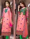 image of Pink Cotton Salwar Kameez with Embroidery