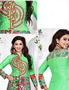 photo of Green Straight Cut Poplin Print Cotton Suit