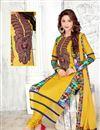 photo of Yellow Straight Cut Cotton Designer Salwar Kameez