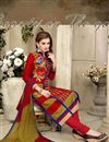 photo of Red Cotton Party Wear Designer Salwar Suit