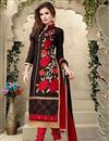 image of Wine Cotton Salwar Kameez with Embroidery