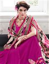 photo of Delightful Pink Color Party Wear Saree