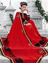 photo of Hypnotizing Red Color Festive Wear Georgette Saree