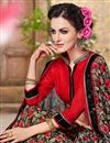 photo of Designer Georgette Fabric Magnificent Black Color Saree With Fancy Work