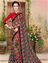 image of Designer Georgette Fabric Magnificent Black Color Saree With Fancy Work