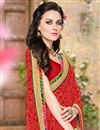 photo of Riveting Red Color Georgette Saree With Unstitched Blouse