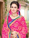 photo of Attractive Pink Color Fancy Work Saree In Georgette Fabric