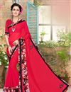 image of Attractive Red Color Fancy Work Saree In Georgette Fabric