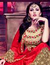 photo of Sensational Red And Beige Color Half N Half Silk Saree