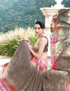 photo of Beige And Pink Color Casual Wear Georgette Printed Saree