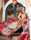 photo of Casual Wear Orange And Red Color Georgette Printed Saree