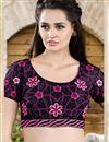 photo of Designer Party Wear Purple Color Saree in Silk-Jacquard Fabric