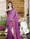 image of Designer Party Wear Purple Color Saree in Silk-Jacquard Fabric
