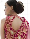 photo of Wedding Wear Embroidered Net-Lycra Saree-3824