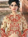 photo of Embroidered Red Color Designer Net Fabric Lehenga Choli