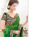 photo of Scintillating Green Designer Embroidered Saree