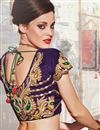 photo of Scintillating Cream and Red Designer Embroidered S