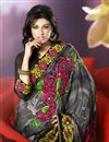 photo of Artistic Floral Print Saree