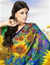photo of Attractive Floral And Abstract Print Saree