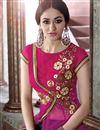 photo of Pink-Orange Net Embroidered Salwar Kameez-2551