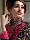 photo of Black Designer Party Wear Bhagalpuri Suit-2555