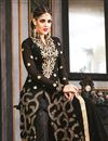 photo of Black Long Length Georgette Palazzo Suit