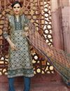 image of Cream Digital Printed Silk Salwar Kameez