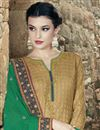 photo of Cream Color Designer Party Wear Cotton Salwar Kameez with Embroidery