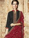 photo of Designer Party Wear Cotton Salwar Suit in Black Color