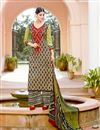 image of Attractive Mehendi Green Designer Palazzo Suit