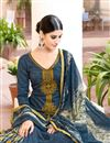 photo of Navy Blue Color Magnetic Cotton And Satin Palazzo Suit