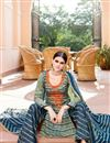 photo of Mehendi Green Color Cotton And Satin Palazzo Salwar Suit