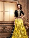 image of Yellow Color Designer Lehenga Choli in Santoon Fabric