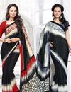 image of Pack of 2 Fancy Print Crepe Silk Sarees