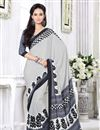 photo of Pretty Collection of 2 Printed Crepe Silk Saris