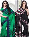 image of Pack of 2 Casual Print Crepe Silk Sarees