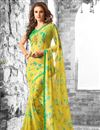 photo of Colorful Floral Print Casual Wear Combo of 2 Georgette Sarees