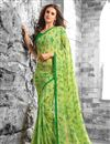 photo of Lenitive Combo of 2 Georgette Fabric Floral Print Sarees