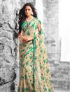 picture of Wonderful Fancy Print Georgette Fabric Combo of 2 Sarees