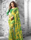 picture of Savory Set of 2 Floral Print Sarees in Georgette Fabric
